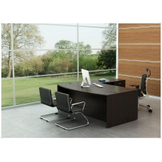 Executive Bowed Front Desk