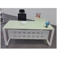 Glass L-shaped Executive Desk