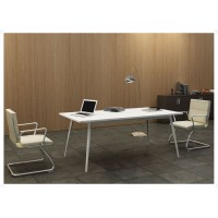 Managerial Desk Chromed Aluminum Frame
