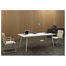 Managerial Desk Chromed Aluminum Frame